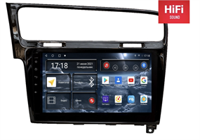 Штатная магнитола Redpower 75006B для Volkswagen Golf 7 2013-2019 на Android 10.0 черный глянец