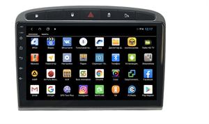 Parafar для Peugeot 308 и 408 2010-2017 серая на Android 9.0 (PF081XHD-G)