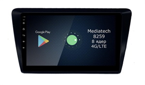 Штатная магнитола Roximo 4G RX-3207 для Skoda Rapid 2018-2020 на Android 10.0