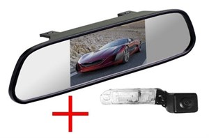 Зеркало + камера для Mercedes ML (w164)