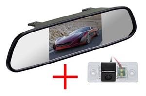 Зеркало + камера cam-061 для Volkswagen Tiguan (07+), Touareg (02-11) / Skoda Fabia (07+), Yeti (09+) / Porsche Cayenne до 2011