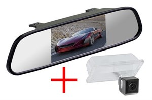 Зеркало + камера cam-097 для Land Rover Freelander 2, Discovery 3, 4, Range Rover Sport