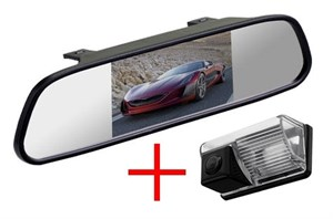 Зеркало + камера cam-009 для Toyota Corolla E120 2000-2007, Avensis 2001-2006, BYD F3, Lifan Solano (620)
