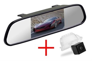 Зеркало + камера cam-014 для Ford Focus 2 хэтчбек (05-11) / Mondeo (07-14) / Kuga (08-12) / Fiesta (08-11) / S-Max (06-10)