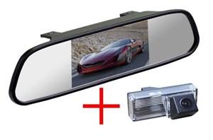 Зеркало + камера cam-004 для Toyota LC-100 (03-07), LC-200 (12+), Prado 120 (02-09) с запаской под днищем