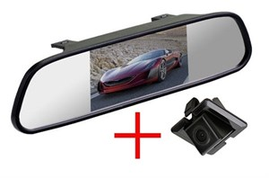 Зеркало + камера cam-001 для Toyota Land Cruiser Prado 150 (запаска под полом) / Lexus RX270