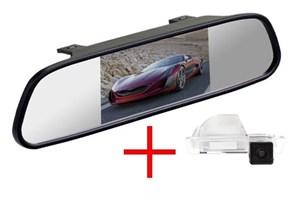 Зеркало + камера cam-062 для Volkswagen Jetta 2013+, Skoda Rapid Седан 2012-2016