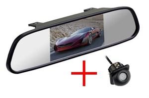 Зеркало + камера врезная водонепроницаемая