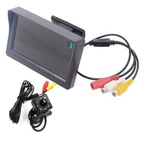 Монитор 4.3 дюйма + универсальная камера заднего вида с 8 ИК диодами под плафон подсветки номерного знака
