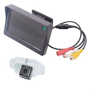 Монитор 4.3 дюйма + камера заднего вида cam-007 для Toyota Prado 120 (02-07) с запаской на двери
