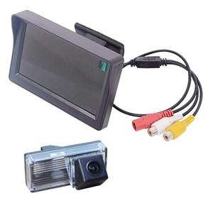 Монитор 4.3 дюйма + камера заднего вида cam-004 для Toyota LC-100 (03-07), LC-200 (12+), Prado 120 (02-09) с запаской под днищем