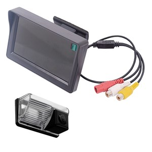 Монитор 4.3 дюйма + камера заднего вида cam-009 для Toyota Corolla E120 2000-2007, Avensis 2001-2006, BYD F3, Lifan Solano (620)