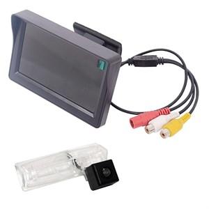 Монитор 4.3 дюйма + камера заднего вида cam-10 для Toyota Camry V40 2006+, Mark 2 110 / Mitsubishi Pajero Sport 2008+, Grandis 2003+ / Mazda MPV 2006+