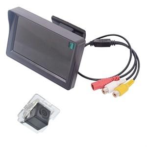 Монитор 4.3 дюйма + камера заднего вида cam-050 для Mitsubishi Outlander XL (06+), Lancer X Sportback, Citroen C-Crosser, Peugeot 4007