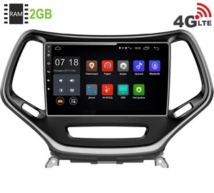 Штатная магнитола LeTrun 1880 Jeep Cherokee 2014+ Android 6.0.1 10 дюймов (4G LTE 2GB)