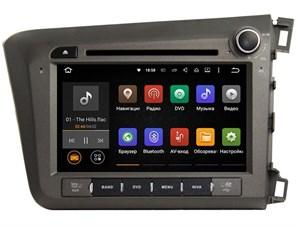 Штатная магнитола Ksize DVA-ZN7018 Honda Civic 2011 - 2013 Android 6.0.1 (правый руль)