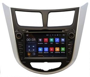 Штатная магнитола Ksize DVA-ZN7025 Hyundai Solaris, Verna Android 6.0.1