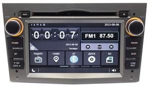 Штатная магнитола Ksize W2-E8828G для Opel Astra, Corsa (серая)