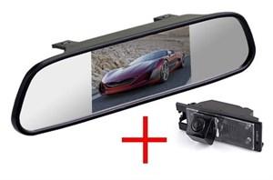 Зеркало с монитором + штатная камера заднего вида