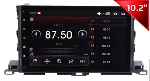 Штатная магнитола Wide Media WM-1042HDb для Toyota Highlander 2014 + на Android 4.4.4