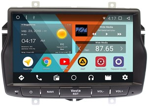 Штатная магнитола Wide Media WM-CF3087NB для Lada Vesta 2015-2017 Android 7.1.2