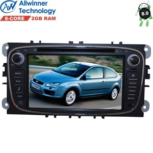Штатная магнитола Ford Focus, C-Max, Mondeo, S-Max, Galaxy LeTrun 2389 на Android 8.1 Allwinner T8