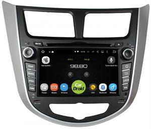 Штатная магнитола Roximo CarDroid RD-2003D для Hyundai Solaris (Android 8.0) DSP