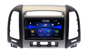 Магнитола в штатное место Hyundai Santa Fe 2010+ с отверстиями для 3-х кнопок Wide Media DV-JM7126
