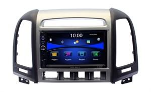 Магнитола в штатное место Hyundai Santa Fe 2010+ с отверстиями для 4-х кнопок Wide Media DV-JM7127