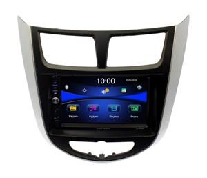 Магнитола в штатное место Hyundai Solaris 2010 - 2016, Verna Wide Media DV-JM7129